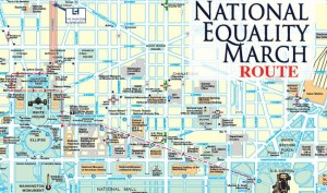 National Equality March Route