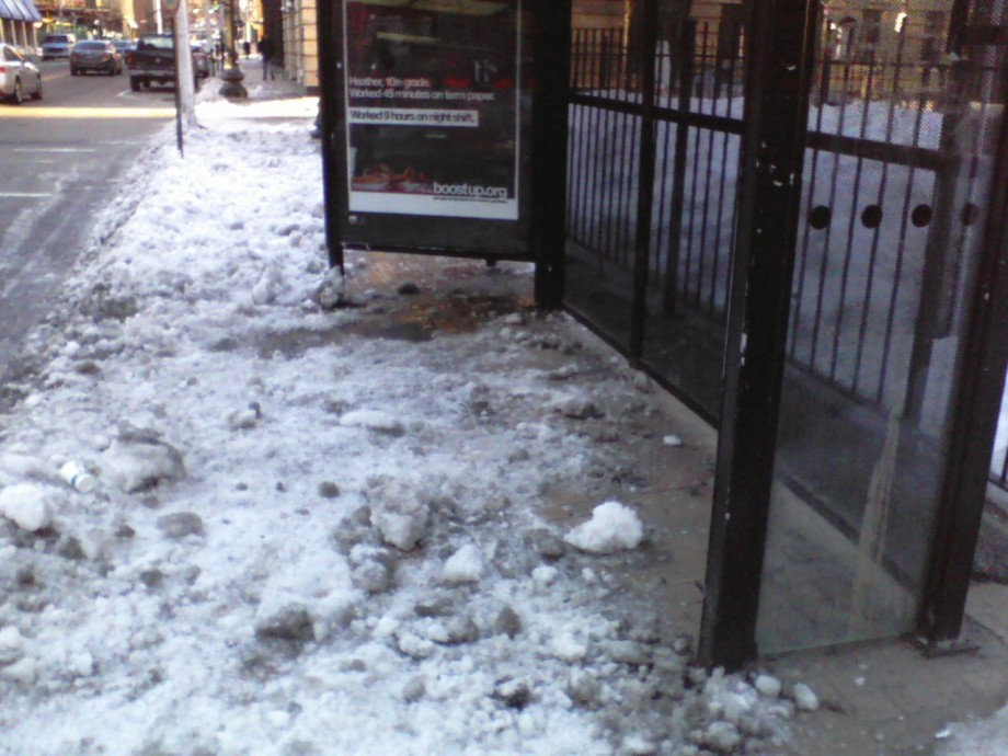 RIPTA Bus Shelter on Washington St in Providence
