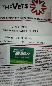 Tickets to Screwtape Letters