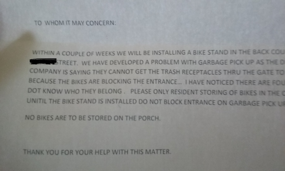 Bike-Notice
